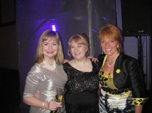 Cathy at the WIC Awards 2013 with hostess Sian Lloyd and speaker Dawn Gibbons.