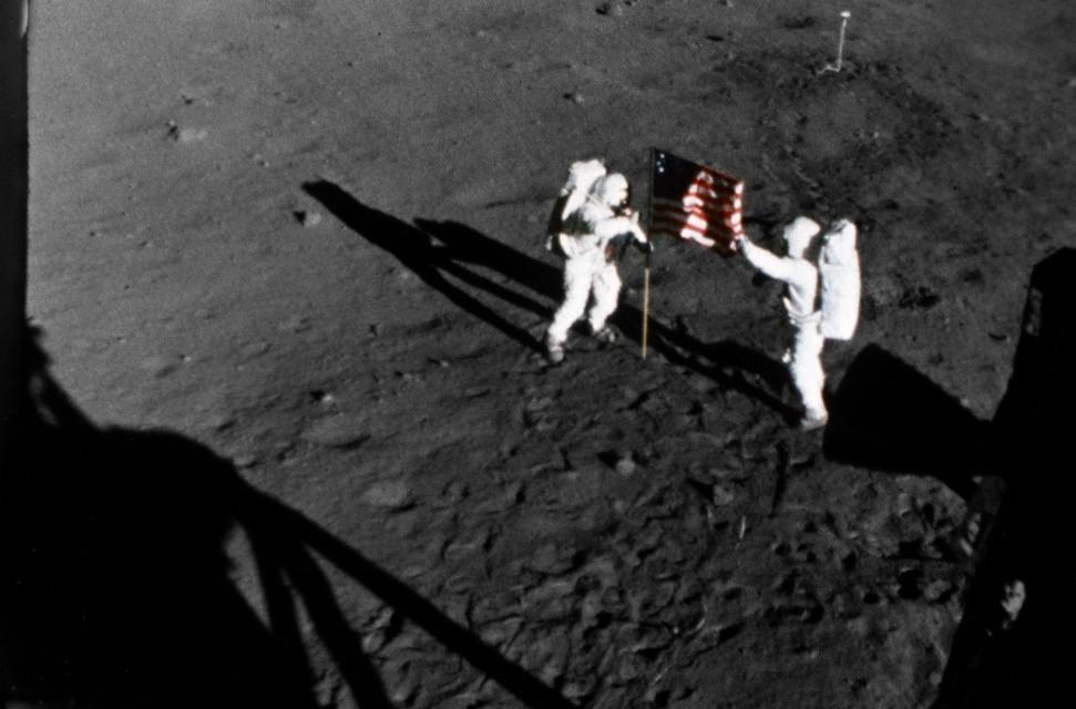 Apollo 11 lunar landing mission (20th July 1969) – NASA