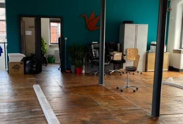 The SG office has been emptied ready for refurbishment.